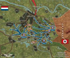 82nd Airborne area of operations around Nijmegen