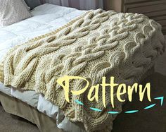 Lattice Cable Knit Blanket PATTERN by OzarksMomma on Etsy