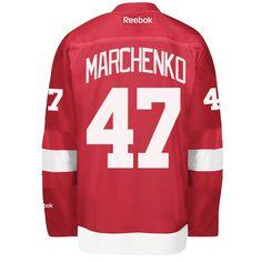 Alexey Marchenko Detroit Red Wings Reebok Premier Home Jersey