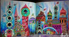 Cidade colorida!🐠🐚🌊 Colorful town!🐠🐚🌊 #johannabasford #lostocean #oceanoperdido #divasdasartes #prazeremcolorir #colorindolivrostop…