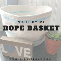 DIY Rope Basket How you easily sew your own rope basket.  #DIY #DIY_Blog #DIY_Home_decor #Home_Decor #Rope_Basket #Nautical #Easy_DIY