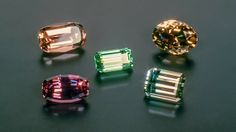Tourmalines in various colors
