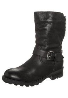 Botki kowbojki i motocyklowe - black http://www.zalando.pl/