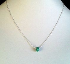 Tiny turquoise Necklace  so cutesimple modern by LaLaCrystal