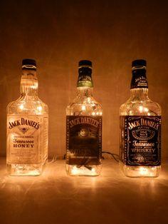 Viaggio Jack 3 Jack Daniel illuminato bottiglie di BoMoLuTra