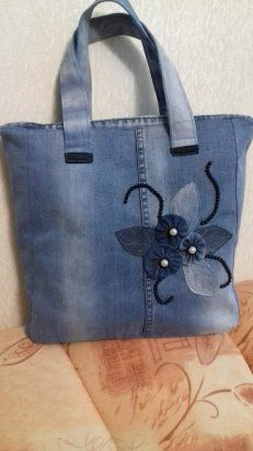Denim Handbags, Denim Tote Bags, Denim Purse, Diy Tote Bag, Jean Purses, Diy Bags Purses, Denim Crafts, Recycled Denim, Bag Patterns To Sew