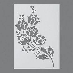 Stencils, Pochoir de fleurs/1 pièces universelle, DIN A 4: Amazon.fr: Cuisine…