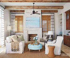 oyster fireplace - Google Search | Beachy fireplace mantels ...