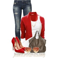 """""""Flirty Red"""" by casuality on Polyvore"""