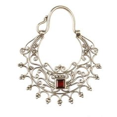 SILVER JEWELRY TUMBLR | buddha jewelry #organic jewelry #silver earrings #silver #garnet # ...