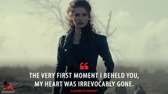 Elizabeth Bennet: The very first moment I beheld you, my heart was irrevocably gone. Darcy And Elizabeth, Elizabeth Bennet, Pride And Prejudice And Zombies, Pride And Prejudice Quotes, Zombie Quotes, Love Always Wins, Most Famous Quotes, Under Your Spell, Mr Darcy