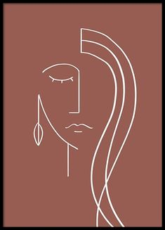 At Desenio, you'll always find posters and prints featuring the latest in interior design. Art Abstrait Ligne, Desenio Posters, Abstract Face Art, Abstract Watercolor Art, Minimal Art, Art Visage, Face Lines, Face Illustration, Kunst Poster
