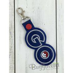 GO Snap Tab Key Fob Embroidery Design