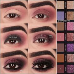 Eye makeup will enhance your beauty and also help to make you look and feel magnificent. Discover how to apply makeup so that you are able to show off your eyes and make an impression. Learn the top ideas for applying make-up to your eyes. Makeup Goals, Makeup Inspo, Makeup Inspiration, Beauty Makeup, Hair Makeup, Huda Beauty, Eye Makeup Steps, Smokey Eye Makeup, Eyeshadow Makeup