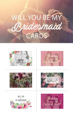 Personalized Bridesmaids cards is a great idea to show your bridesmaid how you care about her!