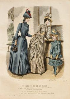 Le Moniteur de la Mode 1888. Love the outfit for the little girl!