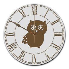 Wanduhr rund Eule Seitenflügel aus MDF  Weiß - Das Original von Mr. & Mrs. Panda.  Eine wunderschöne runde Wanduhr aus hochwertigem MDF Holz mit goldenen Zeigern und absolut lautlosem Uhrwerk    Über unser Motiv Eule Seitenflügel  Diese niedliche Eule ist unser Bestseller! Sie ist genau das Richtige für alle Eulen-Liebhaber und Waldfreunde. Als Geschenk oder im Alltag bringt sie Freude und Zuversicht. Eulen leben weit verbreitet und es gibt sie in vielen verschiedenen Arten: Steinkauz…