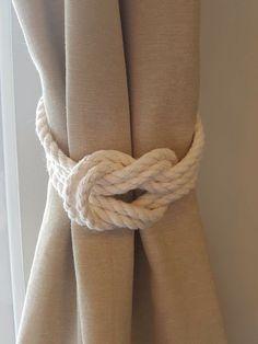 Baumwoll Seil doppelten Kreuzknoten nautischen Vorhang
