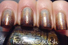 Golden brown holo gradient and stamping kit winners ~ More Nail Polish