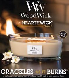 Along with many WoodWick scents to choose from, we are excited to have a few candles from the Hearthwick collection! It sounds and looks like a mini fire place! Wood Wick Candles, Best Candles, Candle Lanterns, Scented Candles, Candle Jars, Natural Living, Candle Quotes, Candels, Home Fragrances