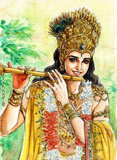 Fanart of Krishna,Mahabharat,by Snowcandy.CC:BY-NC-ND