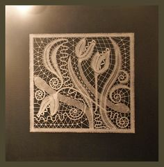 Lace Art, Lace Making, Bobbin Lace, Lace Flowers, Milan, Projects To Try, Tapestry, Leaves, Crochet