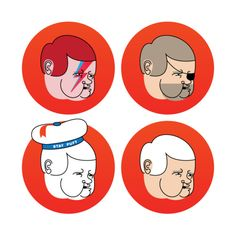 Newt Gingrich in various personas