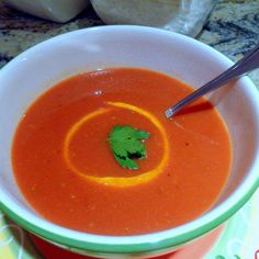 One Perfect Bite: A Taste of Summer's Bounty - Roasted Tomato and Orange Soup