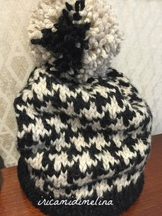 Tutorial, Winter Hats, Crochet Hats, Beanie, Chanel, Vintage, Fashion, Iron, Houndstooth