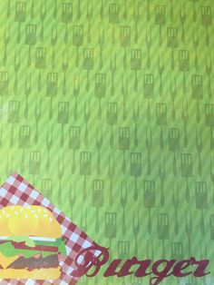 Burger Time Scrapbook Paper