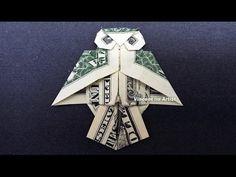 Money Origami OWL - Dollar Bill Art - YouTube