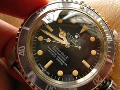 """Real nice Rolex Submariner ref 5512 """"meters first"""" with a faded bezel."""
