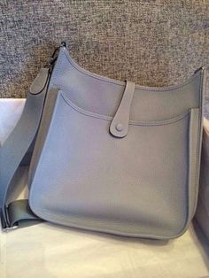 077ed4a20dff Spring Summer 2015 Hermes Cruise Outlet-Hermes Evelyne Bag in Grey Togo  Leather