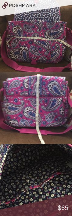 Real Vera Bradley diaper bag or back pack 🎄 Nwot big no rips or stains like new!!!! Vera Bradley Bags Backpacks