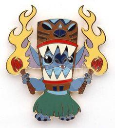 Stitch doing Tiki Hawaiian fire dance pin from Fantasies Come True