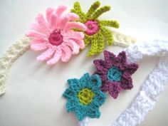 Pdf crochet pattern flower headbands in 6 sizes craftysewing bits baby headband with flowers free crochet pattern mightylinksfo Choice Image