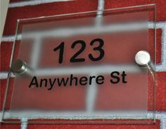 Acrylic sign block/Perspex door sign/Plexiglass number sign China ...