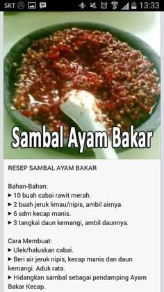 Asparagus in spring entry - Healthy Food Mom Sambal Sauce, Sambal Recipe, Indonesian Cuisine, Indonesian Recipes, Asian Recipes, Healthy Recipes, Malay Food, Spicy Dishes, Malaysian Food