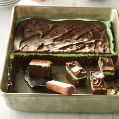 Chocolate Mint Brownies Recipe -One of the best things about this recipe is that the brownies get moister if you leave them in the refrigerator for a…