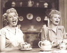 Vivian Vance and Lucille Ball in 'I Love Lucy', 1950s.