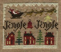 Homespun Elegance - 2011 Sampler Ornament - Jingle Jingle - Cross Stitch Pattern