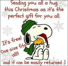 sending you a christmas hug snoopy christmas christmas quotes christmas quote peanuts christmas snoopy christmas christmas comments cute christmas quotes christmas quotes for friends christmas quotes for family christmas hugs snoopy christmas quotes