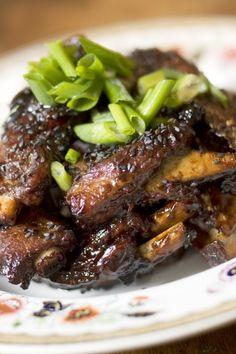 Sticky Pork Ribs with Honeyed Plum Sauce