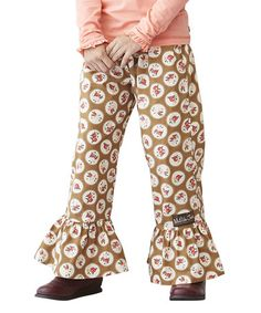 Love this Beige Cameo Ruffles Pants - Infant, Toddler & Girls on #zulily! #zulilyfinds