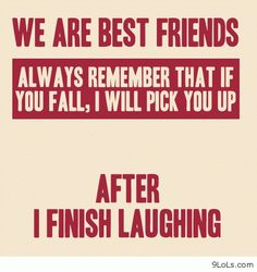 We are best friends sayings