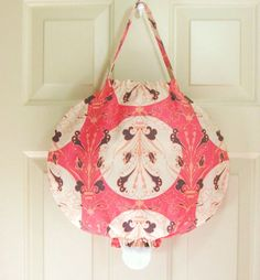 Grocery Bag Holder using Alexander Henry Fabric