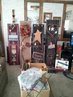 Shutters aren't just for the outside of the home anymore! Check out these great art pieces.