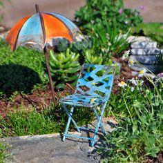 Oceanside Chair #miniature #garden #chair