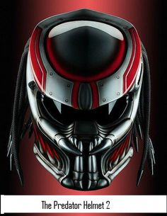 Predator 2, Motorcycle Helmet (Handmade) by PREDATORHELMET15 on Etsy