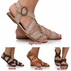 4573c66de3499e Women Leather Sandals Casual Flat Sandals